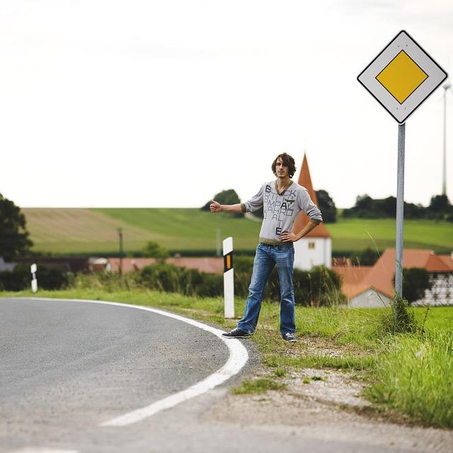 Stopař, auto stop, cestování