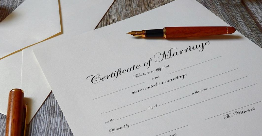 svatební smlouva